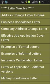 letter writing guide apk screenshot