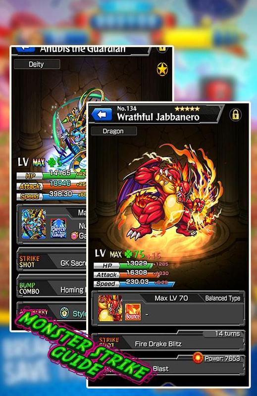 Guide for monst-monster strike cheats for android apk download.