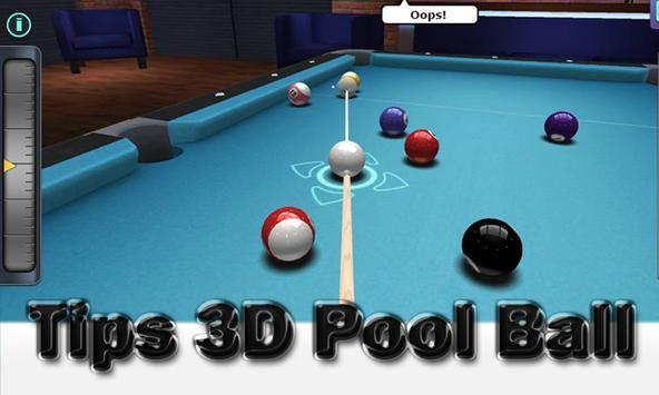 Tips 3D Pool Ball poster