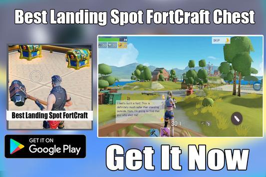 Tips FortCraft : Best Landing Spot Chest apk screenshot