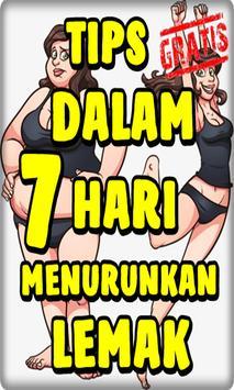 Tips 7 Hari Menurunkan Lemak Ampuh poster