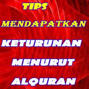 tips mendapatkan keturunan menurut alquran poster
