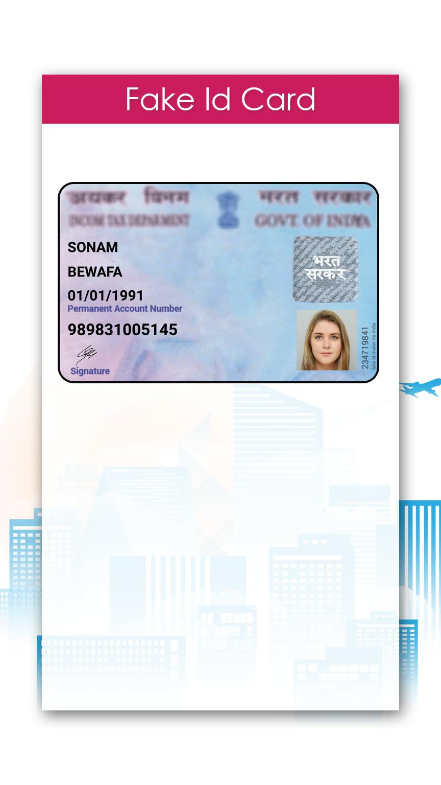 Fake Id Card Maker For Android Apk Download