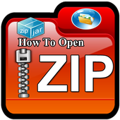 How to open zip files on android icon