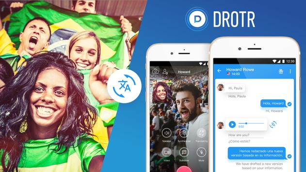 DROTR Calls and chats with translation apk screenshot