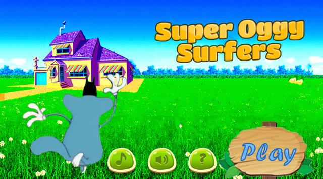 Super Oggy surfers poster
