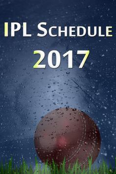 Schedule for IPl 2017 poster