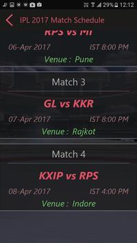 Schedule for IPl 2017 screenshot 2