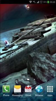 Titanic 3D Free live wallpaper poster