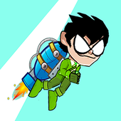 Titans Go Rocket Fly Game icon