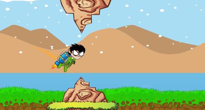 Titans Go Rocket Fly Game poster