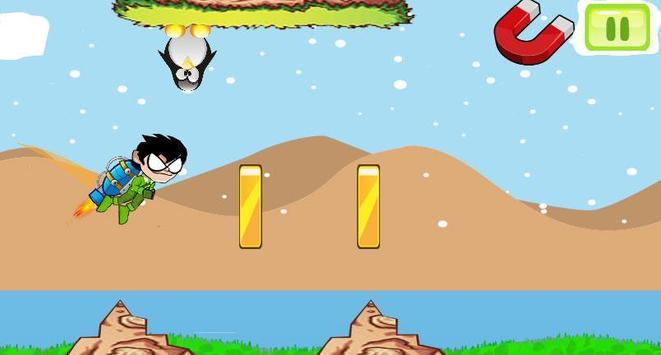 Titans Go Rocket Fly Game screenshot 1