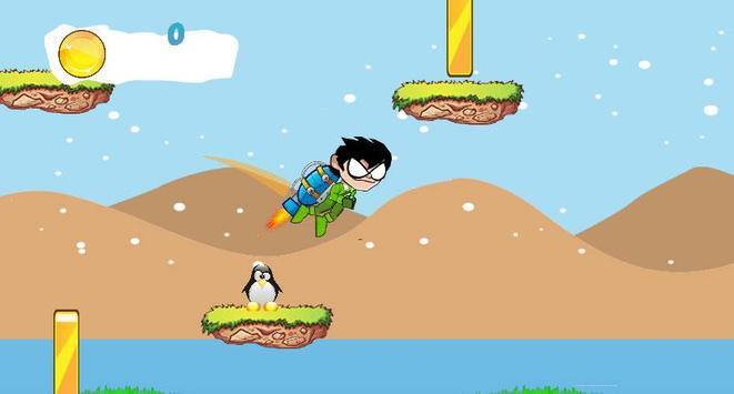 Titans Go Rocket Fly Game screenshot 2