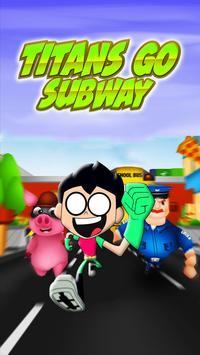 Titans Go Subway poster