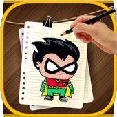 Drawing Book Titans Go icon