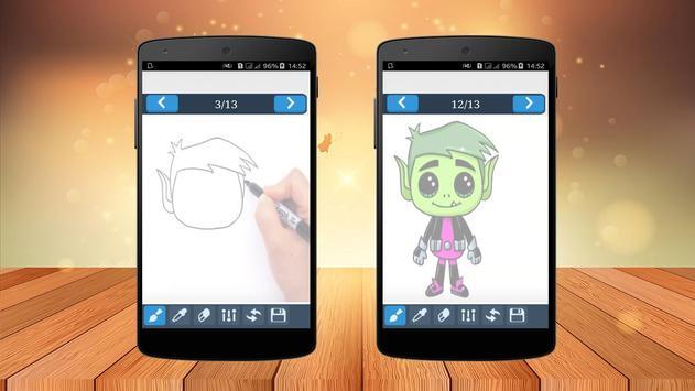 Drawing Book Titans Go apk screenshot