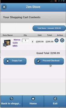 Zen Cart mobile app apk screenshot