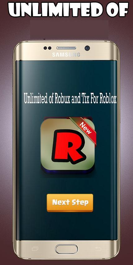 Unlimited Robux Tix For Roblox New For Android Apk Download