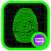 Best Green Glow Theme for SMS Plus icon