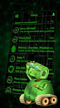 Best Green Glow Theme for SMS Plus poster