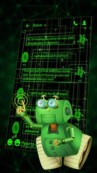 Best Green Glow Theme for SMS Plus screenshot 2