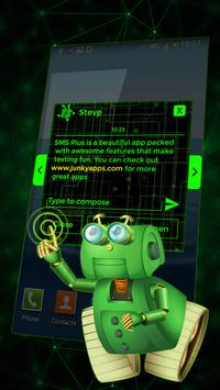 Best Green Glow Theme for SMS Plus screenshot 3