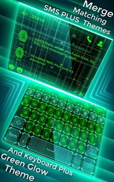 Best Green Glow Theme for SMS Plus apk screenshot