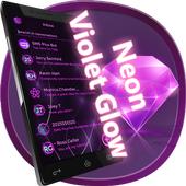 Neon Violet Glow for SMS Plus icon