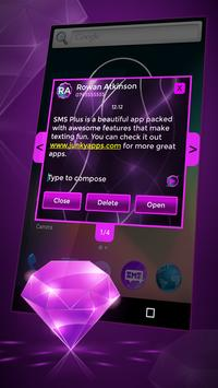 Neon Violet Glow for SMS Plus apk screenshot