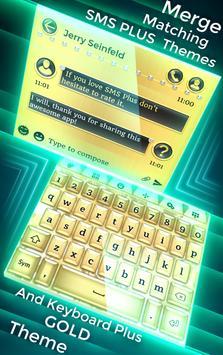 SMS Plus Gold Theme apk screenshot
