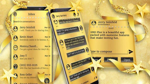 Gold Glitter Theme 2018 poster
