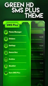Nature Green HD SMS Plus Theme apk screenshot