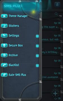 Alien Theme SMS Plus apk screenshot