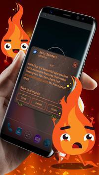 Neon Hell Theme SMS Plus screenshot 1