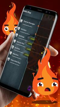 Neon Hell Theme SMS Plus screenshot 3