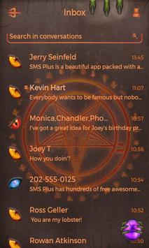 Neon Hell Theme SMS Plus apk screenshot