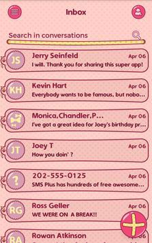 Sweet Pink Theme SMS Plus apk screenshot