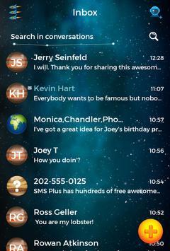 Colorful Universe Theme SMS Plus apk screenshot