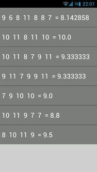 Average mark apk screenshot