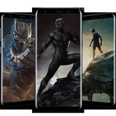 Superheroes Black Panther Wallpaper 4K icon