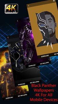 Superheroes Black Panther Wallpaper 4K poster