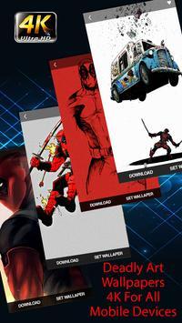 Wade Wilson - DeadPool Wallpapers 4K Free poster