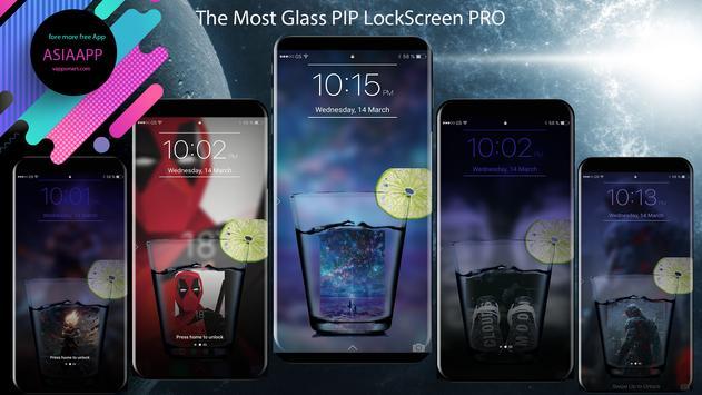 Glass PIP Lock Screen screenshot 2