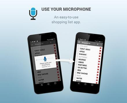 Shopping list voice input apk screenshot