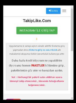 Takip Like screenshot 1