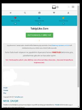 Takip Like screenshot 3