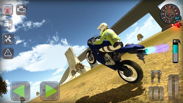 Trafik Polisi Motorsiklet Simülatör Oyunu Ekran Görüntüsü 4