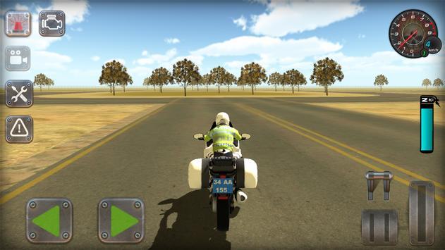 Trafik Polisi Motorsiklet Simülatör Oyunu Ekran Görüntüsü 12