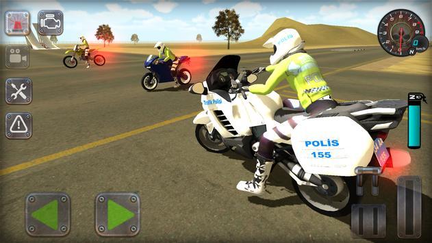 Trafik Polisi Motorsiklet Simülatör Oyunu Ekran Görüntüsü 14