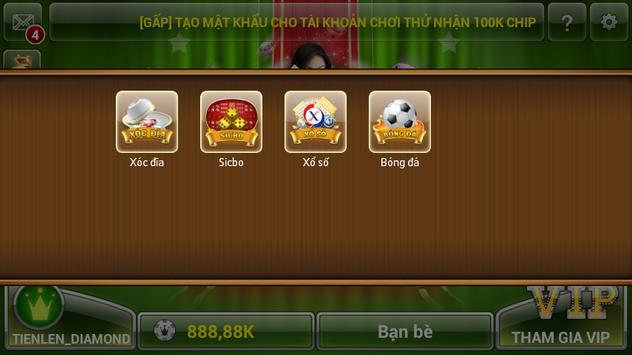Tien len mien nam dem la apk screenshot